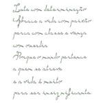 Stencil Litoarte 21,1x17,2 STM-385 Pensamento Amor