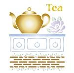 Stencil Litoarte 21,1x17,2 STM-332 Bule Tea