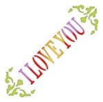 Stencil Litoarte 10x10 STX-342 I Love You