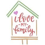Stencil Litoarte 10x10 STX-340 Selo I Love My Family