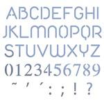Stencil Litoarte 10x10 STX-349 Alfabeto