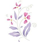 Stencil Litoarte 10x10 STX-362 Flores e Folhas