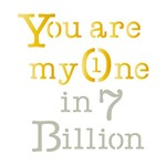 Stencil Litoarte 10x10 STX-260 You Are My One In 7 Billion