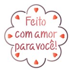 Stencil Litoarte 10x10 STX-367 Selo Feito com Amor