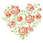 Stencil Litoarte 10x10 STX-373 Coração de Rosas