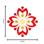 Stencil Litoarte 10x10 STX-383 Mandala Flor