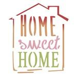 Stencil Litoarte 10x10 STX-339 Selo Home Sweet Home