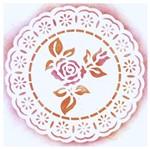 Stencil Litoarte 14x14 STA-014 Rendado Redondo Rosa