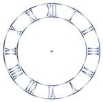 Stencil Litoarte 14x14 STA-052 Relógio Algarismo Romano II