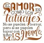 Stencil Litoarte 14x14 STA-085 El Amor Es Como Los Tatuajes