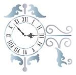 Stencil Litoarte 14x14 STA-093 Relógio Parede Pendente