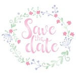 Stencil Litoarte 14x14 STA-094 Save The Date