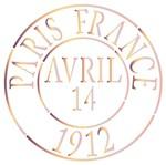 Stencil Litoarte 14x14 STA-096 Selo Paris França