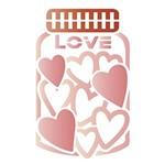 Stencil Litoarte 14x14 STA-099 Vidro Cheio de Corações