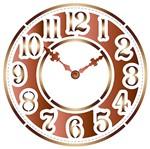 Stencil Litoarte 14x14 STA-110 Relógio
