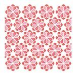 Stencil Litoarte 14x14 STA-117 Estampa Floral