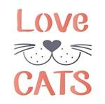Stencil Litoarte 14x14 STA-119 Love Cats