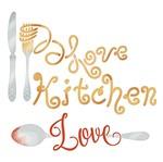 Stencil Litoarte 14x14 STA-124 Love Kitchen