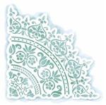 Stencil Litoarte 16,1x15,8 STA2-029 Cantoneira Floral