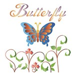 Stencil Litoarte 16x16 STQ-007 Butterfly