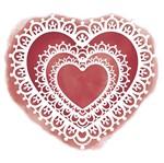 Stencil Litoarte 17,8x16,5 STA2-022 Coração Rendado