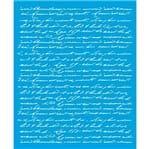 Stencil Litoarte 17 X 21 Cm - STME-002 Texto Manuscrito
