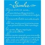 Stencil Litoarte 17 X 21 Cm - STME-003 Texto Sonho