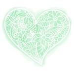 Stencil Litoarte 18,7x16,5 STA2-044 Coração Flor Rendado