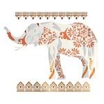 Stencil Litoarte 34,4x21 ST-201 Elefante Floral