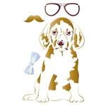 Stencil Litoarte 34,4x21 ST-067 Cachorro de Óculos