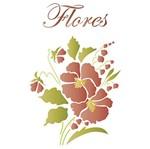 Stencil Litoarte 34,4x21 ST-110 Flor Amor Perfeito