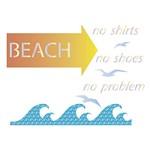 Stencil Litoarte 34,4x21 ST-174 Beach, Gaivotas e Ondas