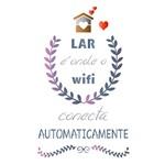 Stencil Litoarte 34,4x21 ST-326 Lar é Onde o Wifi Conecta Automaticamente