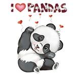 Stencil Litoarte 34,4x21 ST-227 I Love Pandas