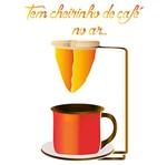 Stencil Litoarte 34,4x21 ST-372 Tem Cheirinho de Café no Ar