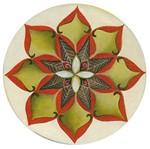 Stencil Litoarte 34,4x21 ST-287 Mandala Flor Margarida