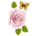 Stencil Litoarte 34,4x21 ST-239 Rosa e Borboleta