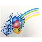 Stencil Litoarte 34,4x21 ST1-021 Corações com Flores