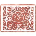 Stencil Litoarte 42,2x32 STA4-003 Rosas e Folhas
