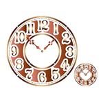 Stencil Litoarte 42,2x32 STS-022 Relógio