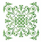 Stencil Litoarte 42,2x32 STW-021 Ornamento Arabescos