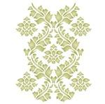 Stencil Litoarte 42,2x32 STW-019 Ornamento Folhas