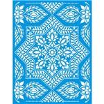 Stencil Litoarte 42,2x32 STW-034 Estampa Azulejo