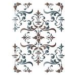 Stencil Litoarte 42,2x32 STW-029 Ornamento Flor de Lis