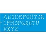 Stencil Litoarte 42x17 STG-023 Letras