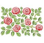 Stencil Litoarte 25x20 STR-010 Estampa Rosas