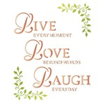 Stencil Litoarte 25x20 STR-034 Live Love Laugh