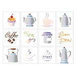 Stencil Litoarte 25x20 STR-085 Miniaturas de Chás e Cafés