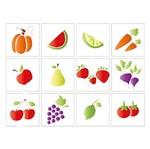 Stencil Litoarte 25x20 STR-087 Legumes e Frutas