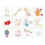 Stencil Litoarte 25x20 STR-088 Elementos Decorativos
